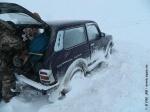 Семь «Нив» оказались в снежном плену